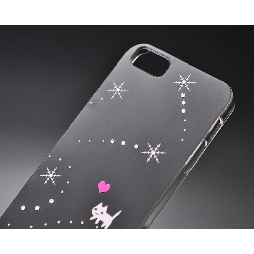 Snow Catty Bling Swarovski Crystal Phone Cases