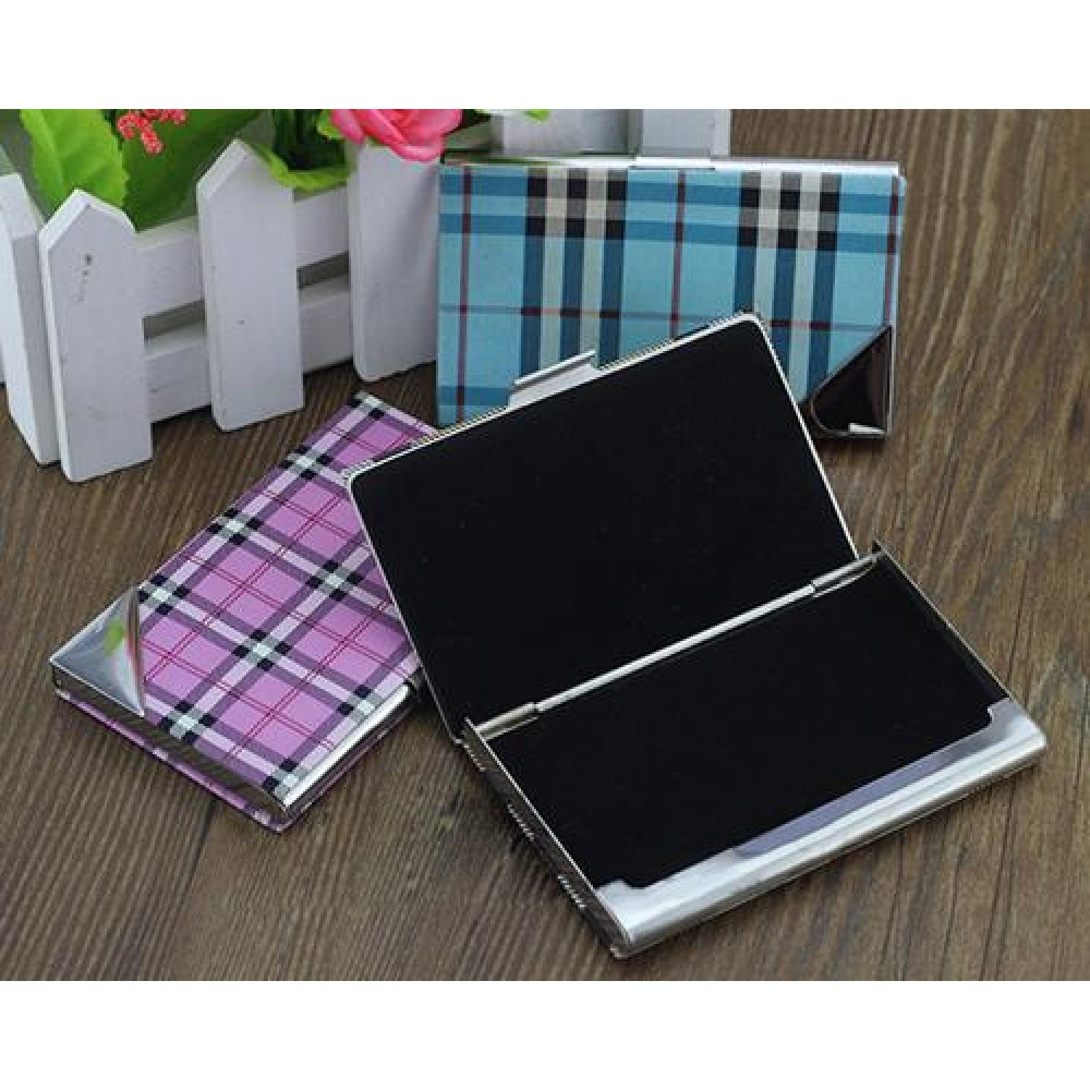 Stainless Steel Business Card Case - Black
