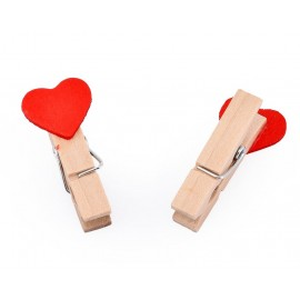 10 Pcs Wooden Pegs Paper Photo Clip With Linen Str..