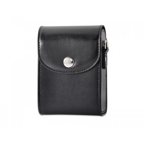 Simple PU Leather Shoulder Bag for Mirrorless Camera - Black