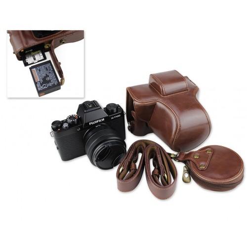 Premium Series Fujifilm X-T100 Camera Leather Case