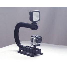 GoPro Professional Handheld Mount w/ LED Light Ada..