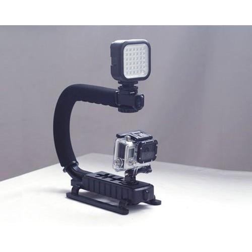 GoPro Professional Handheld Mount w/ LED Light Adapter for Hero Camera