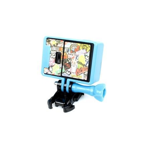 GoPro Border Standard Frame Mount for Hero 3 / 3+ / 4 Camera - Blue