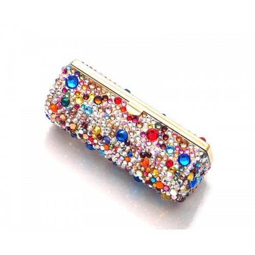 Colorato Bling Swarovski Crystal Lipstick Case With Mirror